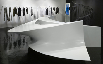 Neil Barrett . Shop in Shop . Zaha Hadid Architects . Seoul . Hong Kong