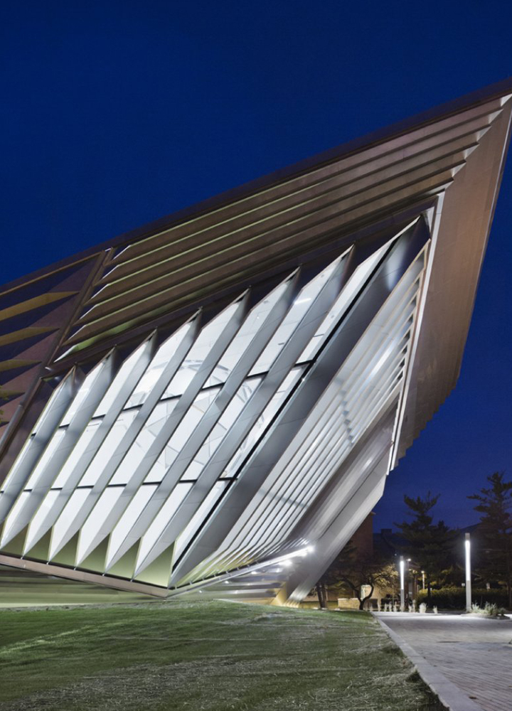 Eli & Edythe Broad Art Museum . Zaha Hadid Architects . Michigan State University . East Lansing.  USA