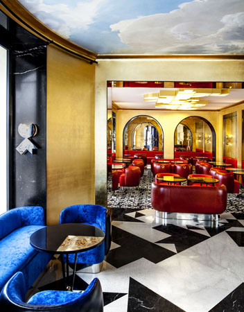 Cafè Francais . Maison Thierry . India Mahdavi . Paris . France