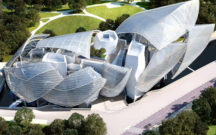 Louis Vuitton fondation . Frank Gehry . Paris . France