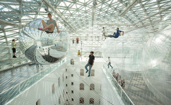 Tomas Saraceno . In Orbit . k21 Standehaus . Dusseldorf . Germany
