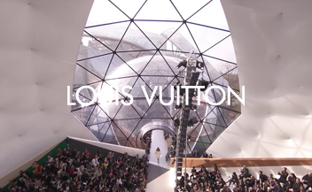 Louis Vuitton woman's fall fashion show